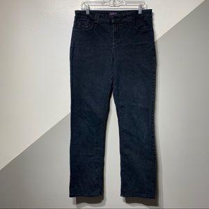 NYDJ Sz14 Straight Fit Jeans Stretch Navy Denim